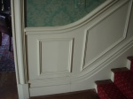 The beautiful trim along the front stairs. I love the rhombus.