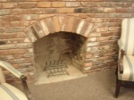 This is a fireplace on the second floor in the original part of the house. So, circa 1821.