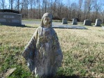Mary at a Baptist cemetery. She didn't say why.