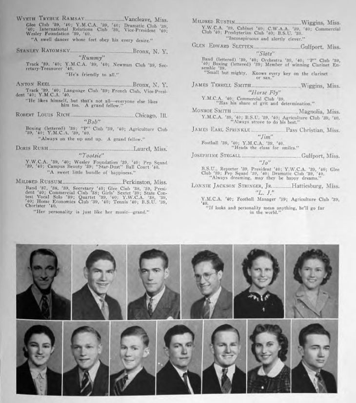 I found my Grandpa Bob's college yearbook online. That's him fourth from the left.