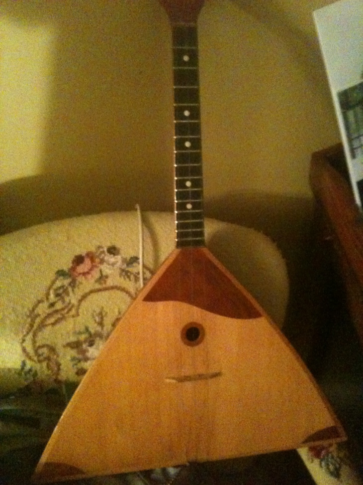 It's a balalaika! Thanks, Dad!