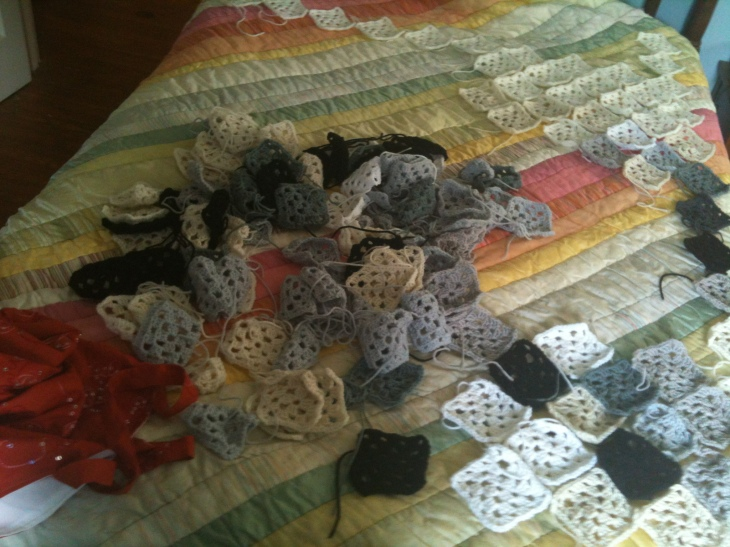 black and white afghan 1