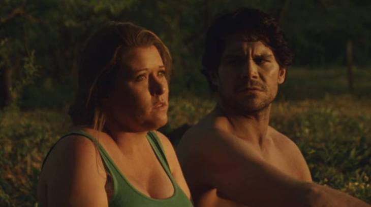 What gal doesn't want to sit next to a naked zombie? I love how she looks resigned and hopeful and he looks dead and gravely concerned.