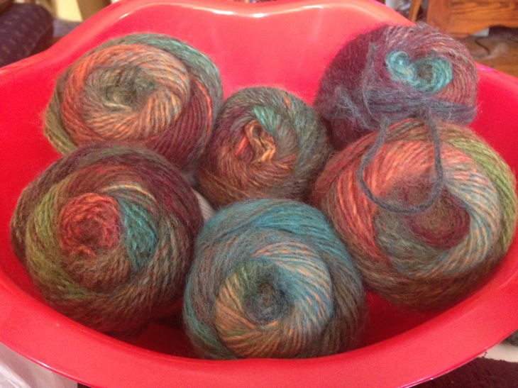 Here's every skein of yarn in this color way I could find in Madison.