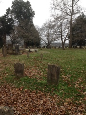 Beech cemetery pointing away from the church.