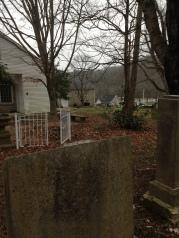 Beech cemetery looking kind of toward the church