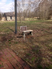 We went to the Octagon house in Kentucky. This is the sign that greeted us.